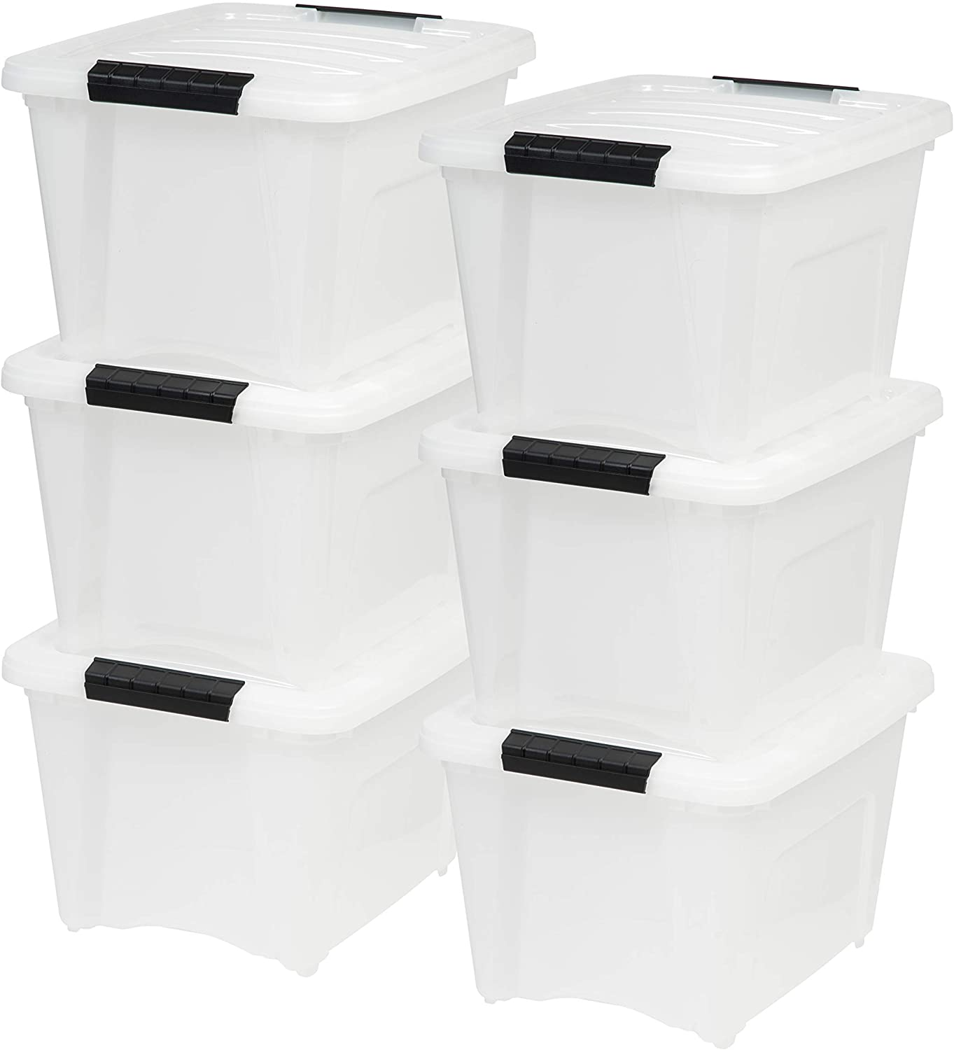IRIS USA TB-17 19-Quart Stack & Pull Storage Bins