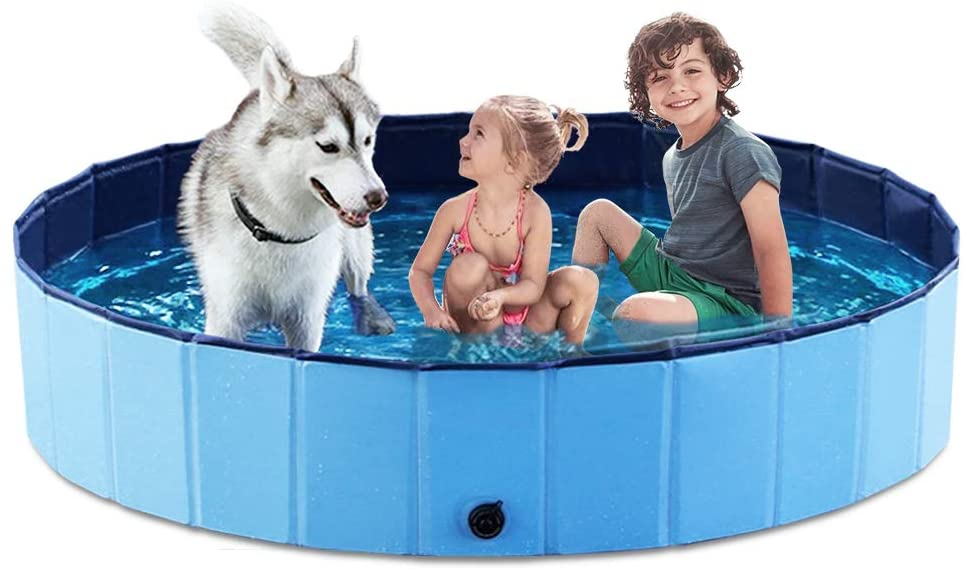 Jasonwell Foldable Kiddie Pool For Kids & Dogs