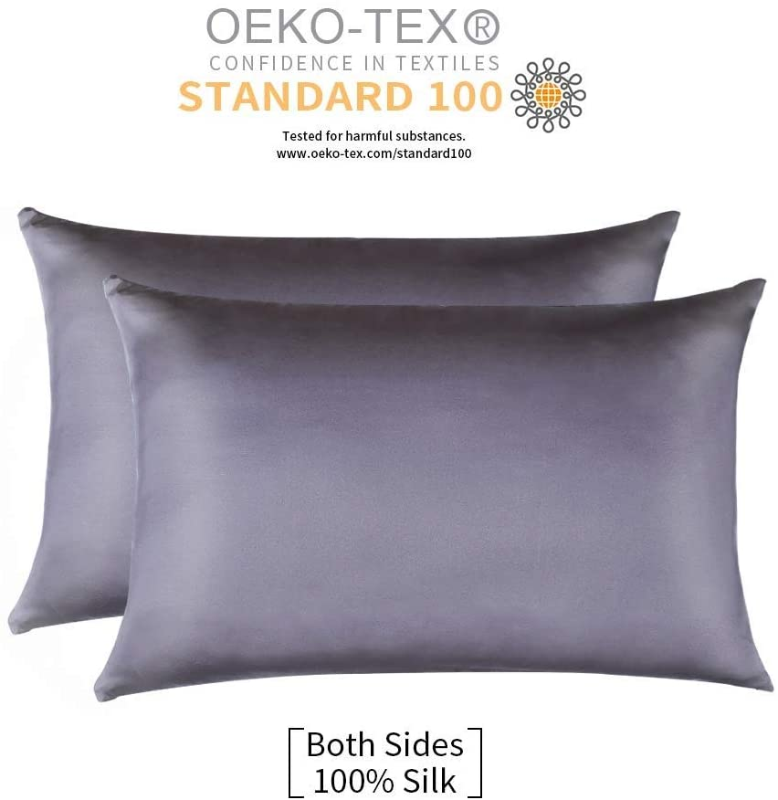 Jocoku Breathable Mulberry Silk Pillowcase, 2-Pack