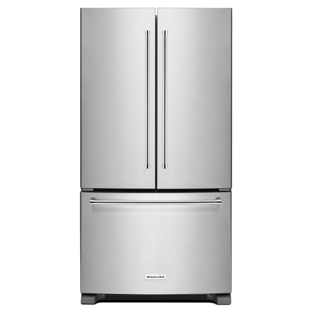 KitchenAid 20 Cubic Foot French Door Refrigerator, Counter Depth