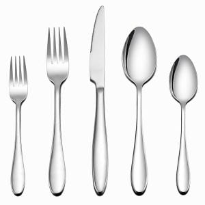 LIANYU Stainless Steel Flatware Set, 40-Piece