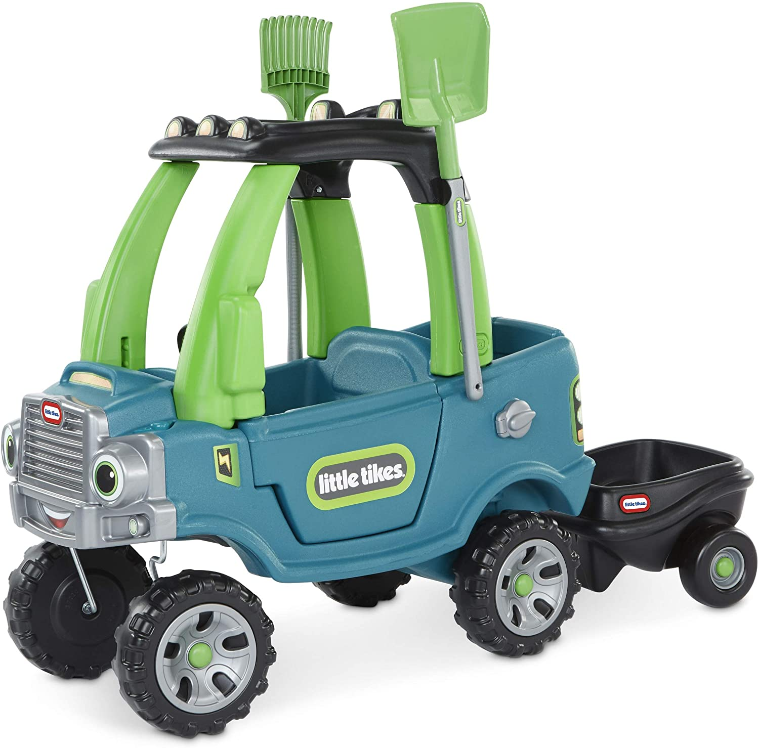 Little Tikes Go Green! Cozy Truck With Trailer & Garden Tools