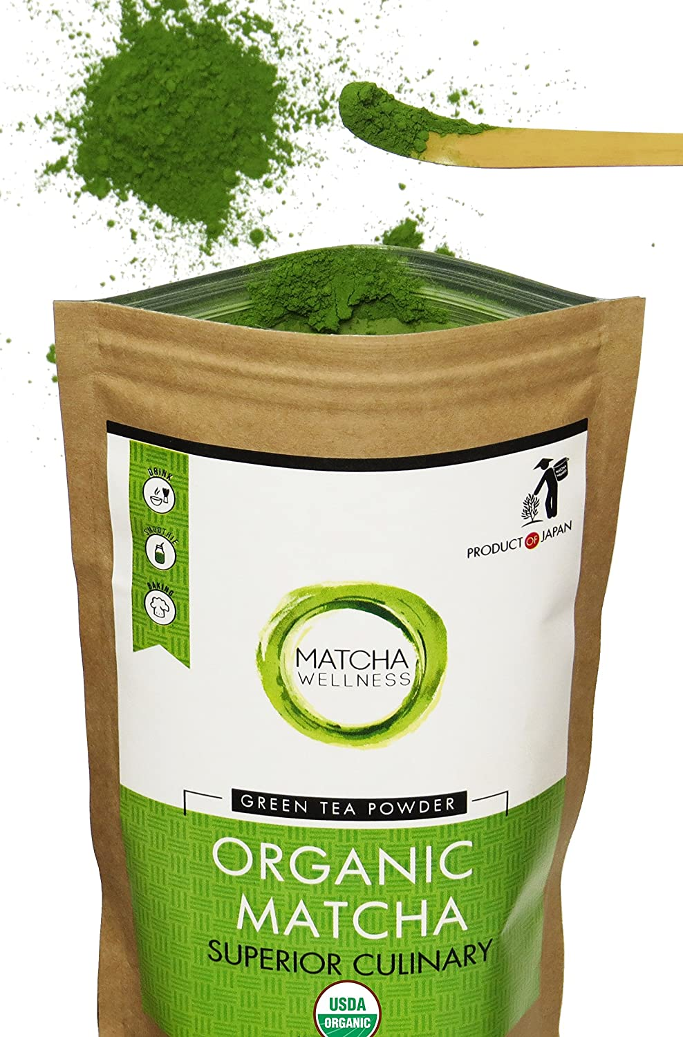 Matcha Wellness Organic Matcha Green Tea Powder