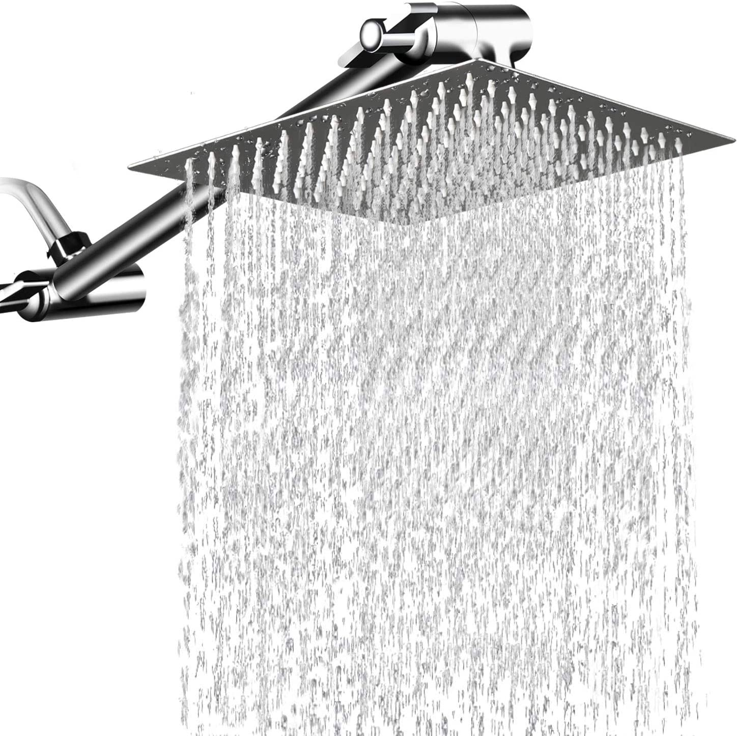 MESUN High Pressure Square Rain Showerhead