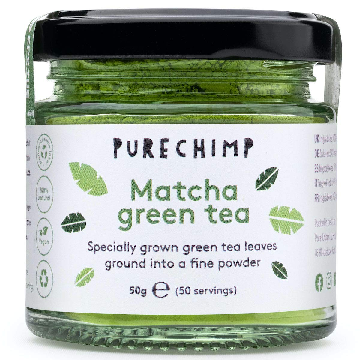 PureChimp Ceremonial Grade Matcha Green Tea Powder