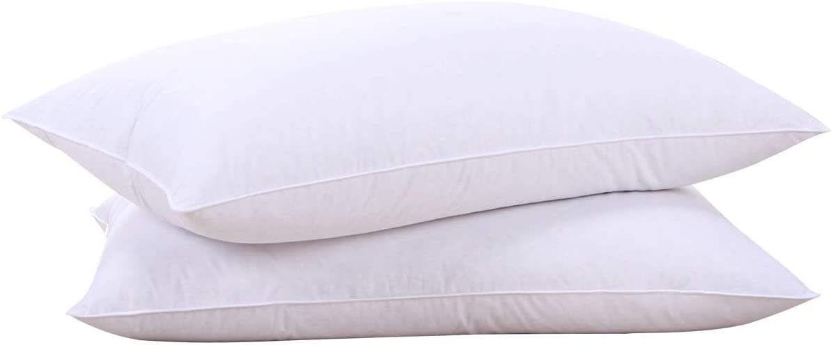puredown Natural Goose Down Pillows, 2-Pack