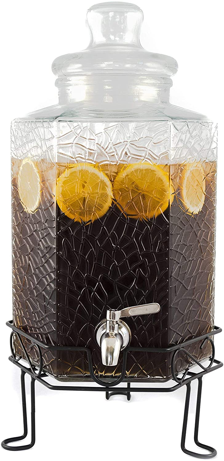 Redfern 2.5-Gallon Glass Drink Dispenser & Stand