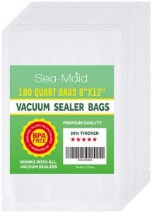 Sea-Maid Quart Size Vacuum Sealer Bags, 100-Count