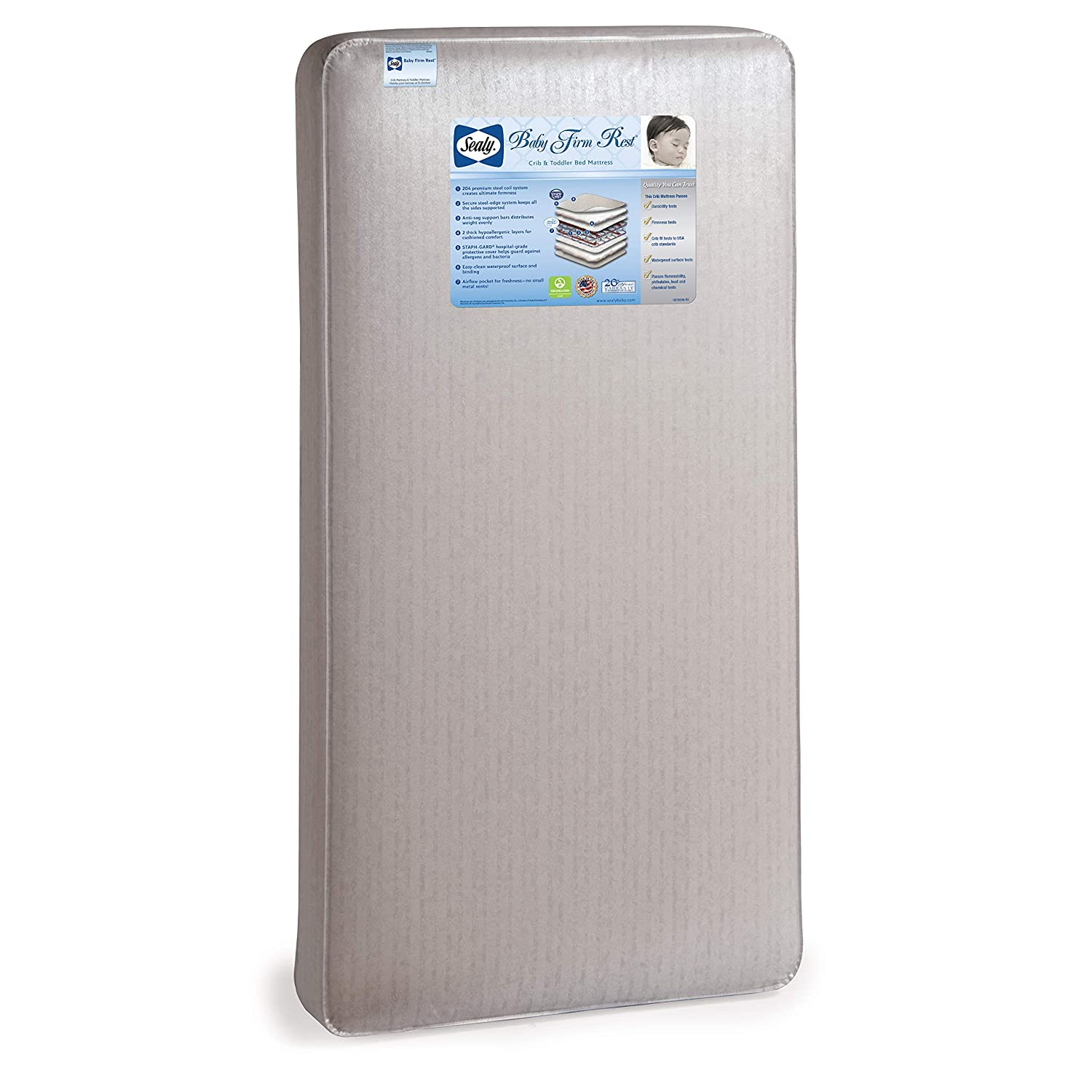 Sealy Baby Firm Rest Antibacterial Crib Mattress
