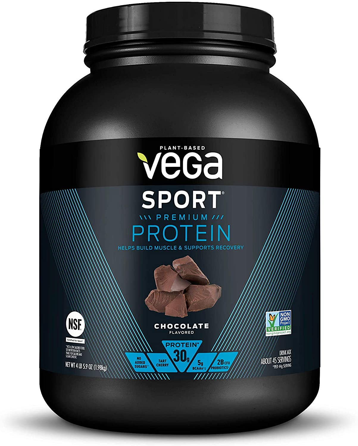 Vega Sport 4-Pound Premium Protein Powder, Chocolate