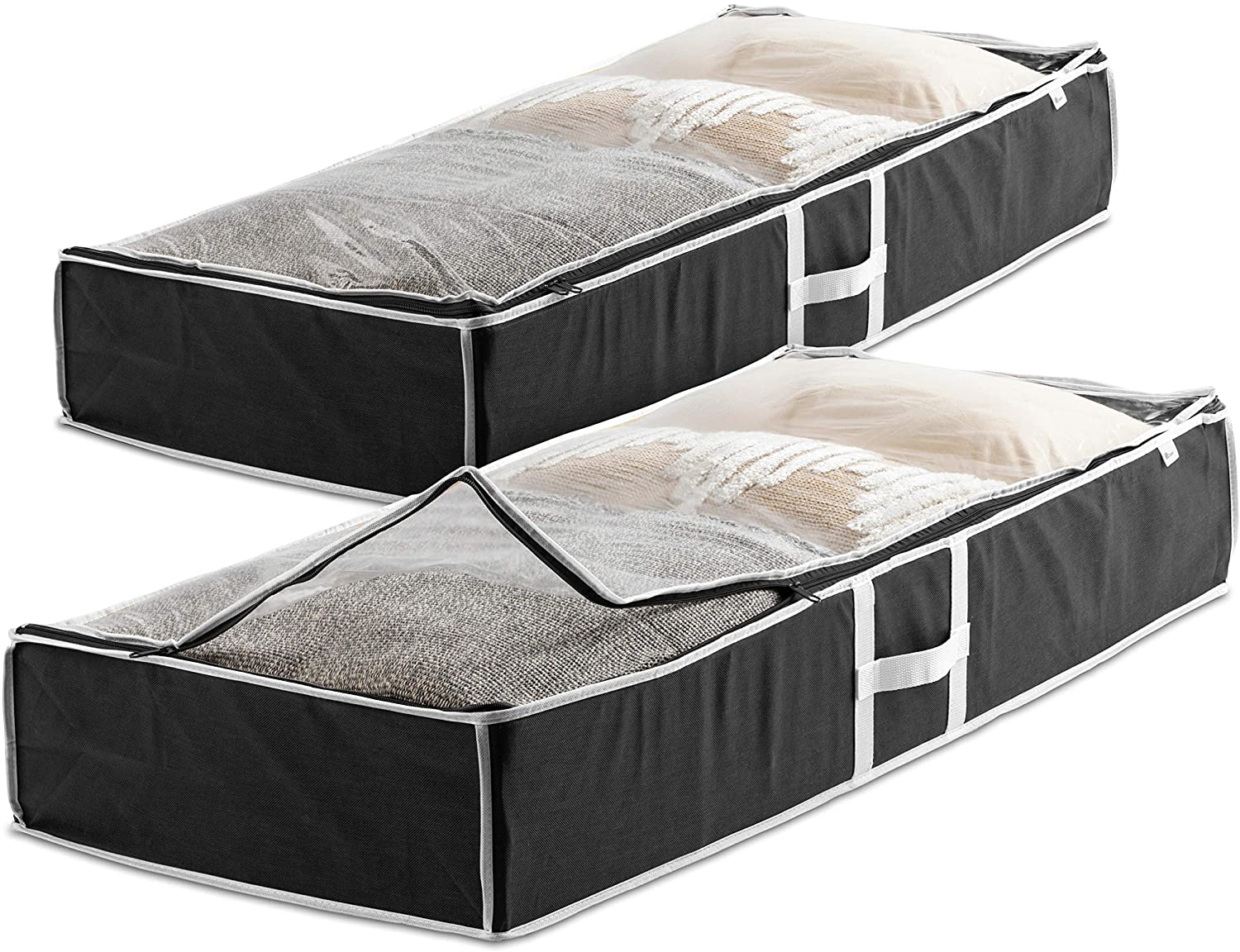 Zober Non-Woven Material Under Bed Storage, 2-Pack