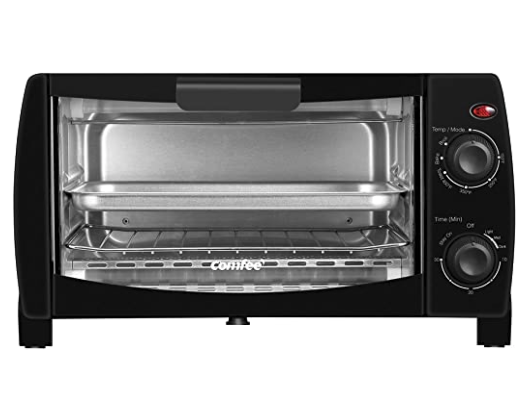 COMFEE' Compact Black Countertop Toaster Oven