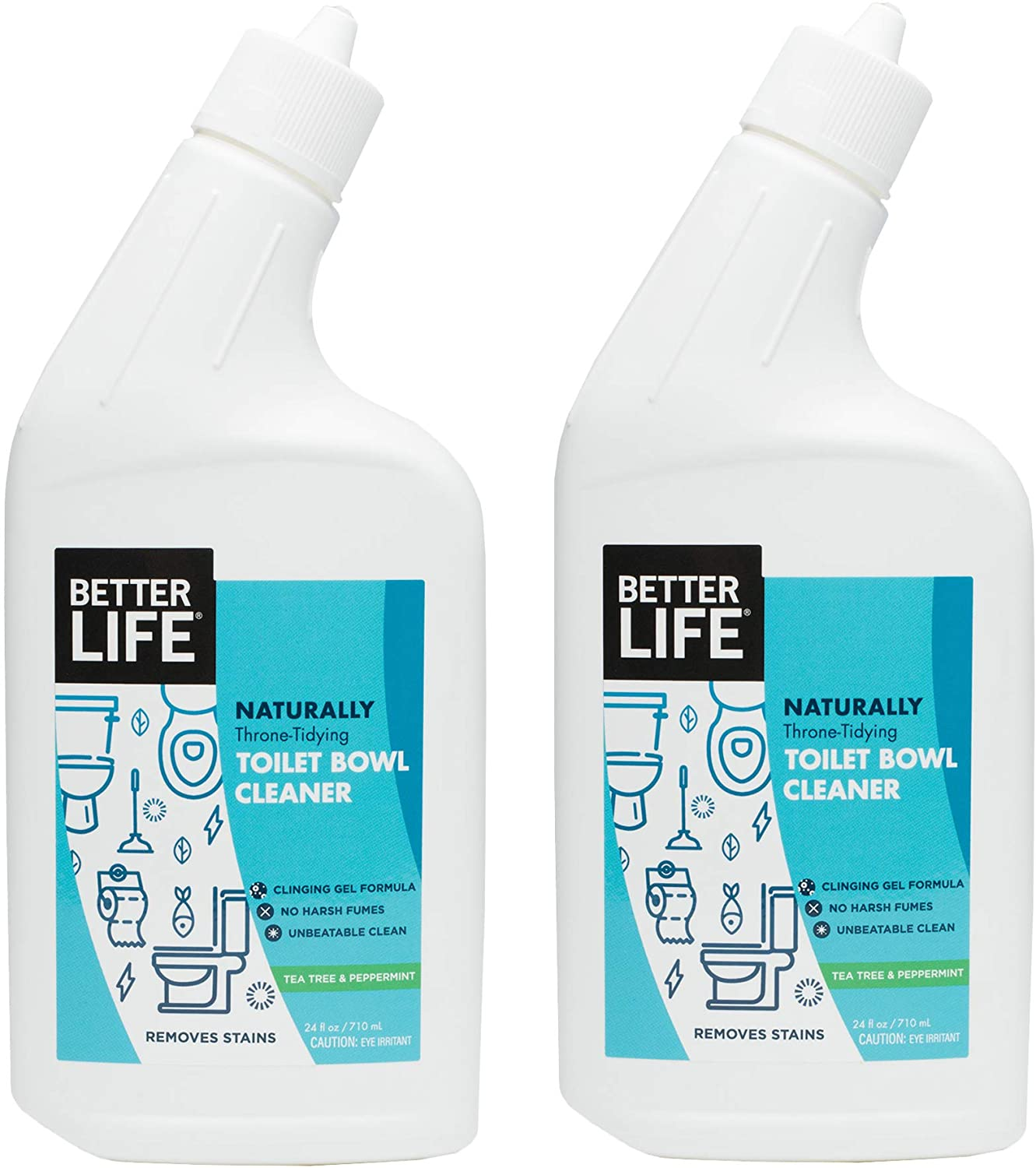 Better Life Natural Toilet Bowl Cleaner, 2-Pack