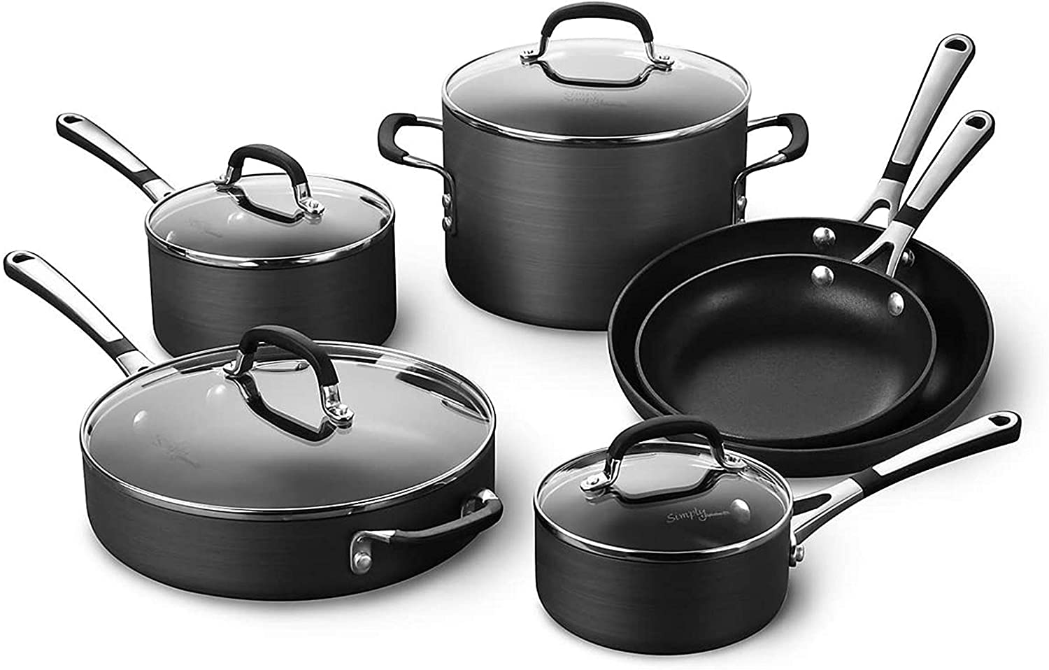 Calphalon Simply Pots & Pans Nonstick Cookware Set, 10-Piece