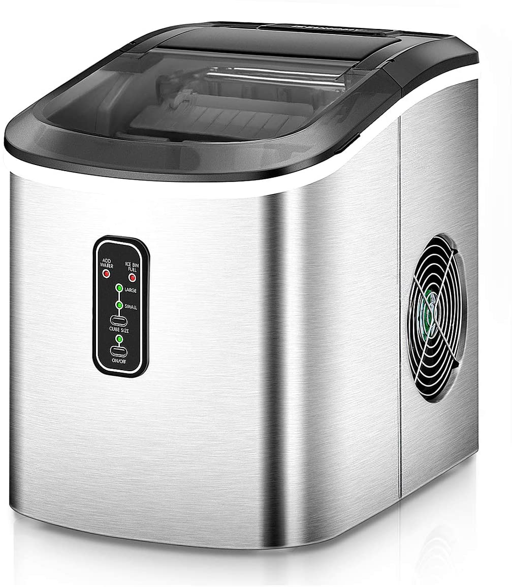 E EUHOMY Compact Countertop Ice Maker