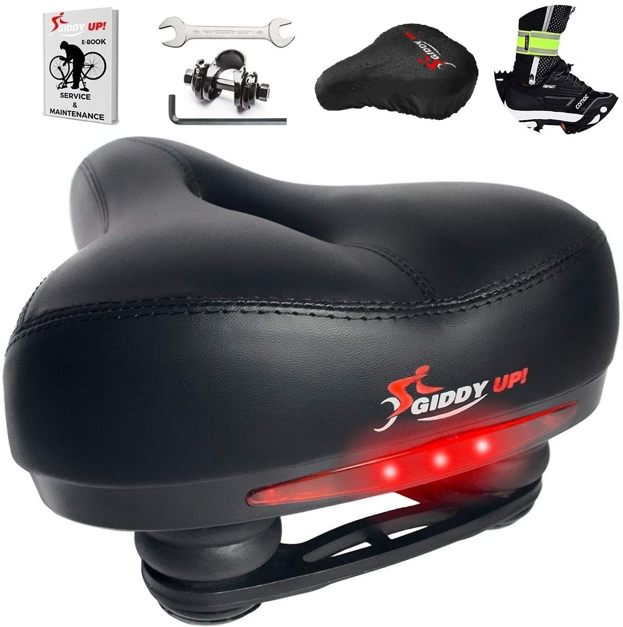 Giddy Up! Memory Foam Waterproof Bike Saddle