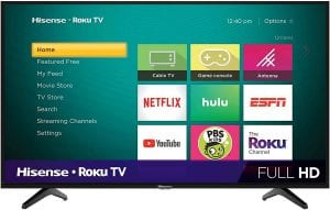Hisense 40-Inch Class H4 LED Roku Smart TV
