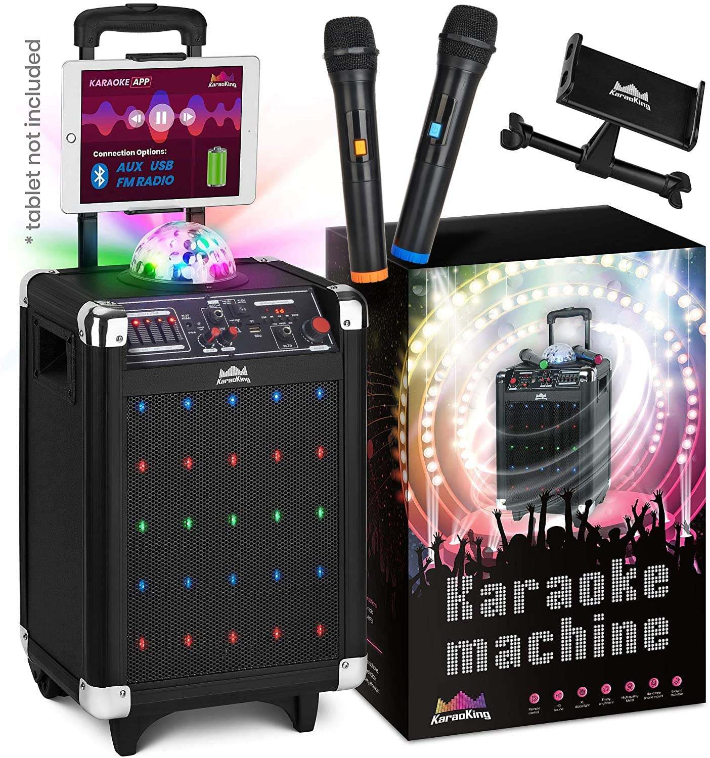 KaraoKing Karaoke Machine & Bluetooth Microphones