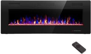 R.W.FLAME Recessed & Wall Mounted Electric Fireplace