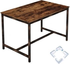 Rolanstar Rustic Metal Frame Dining Table