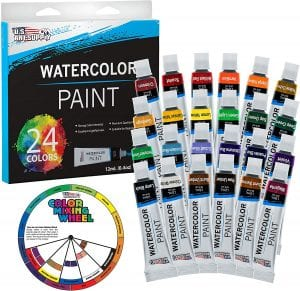 U.S. Art Supply Professional Watercolor Paint, 24-Count