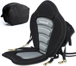 WOOWAVE Padded Deluxe Kayak Seat Cushion