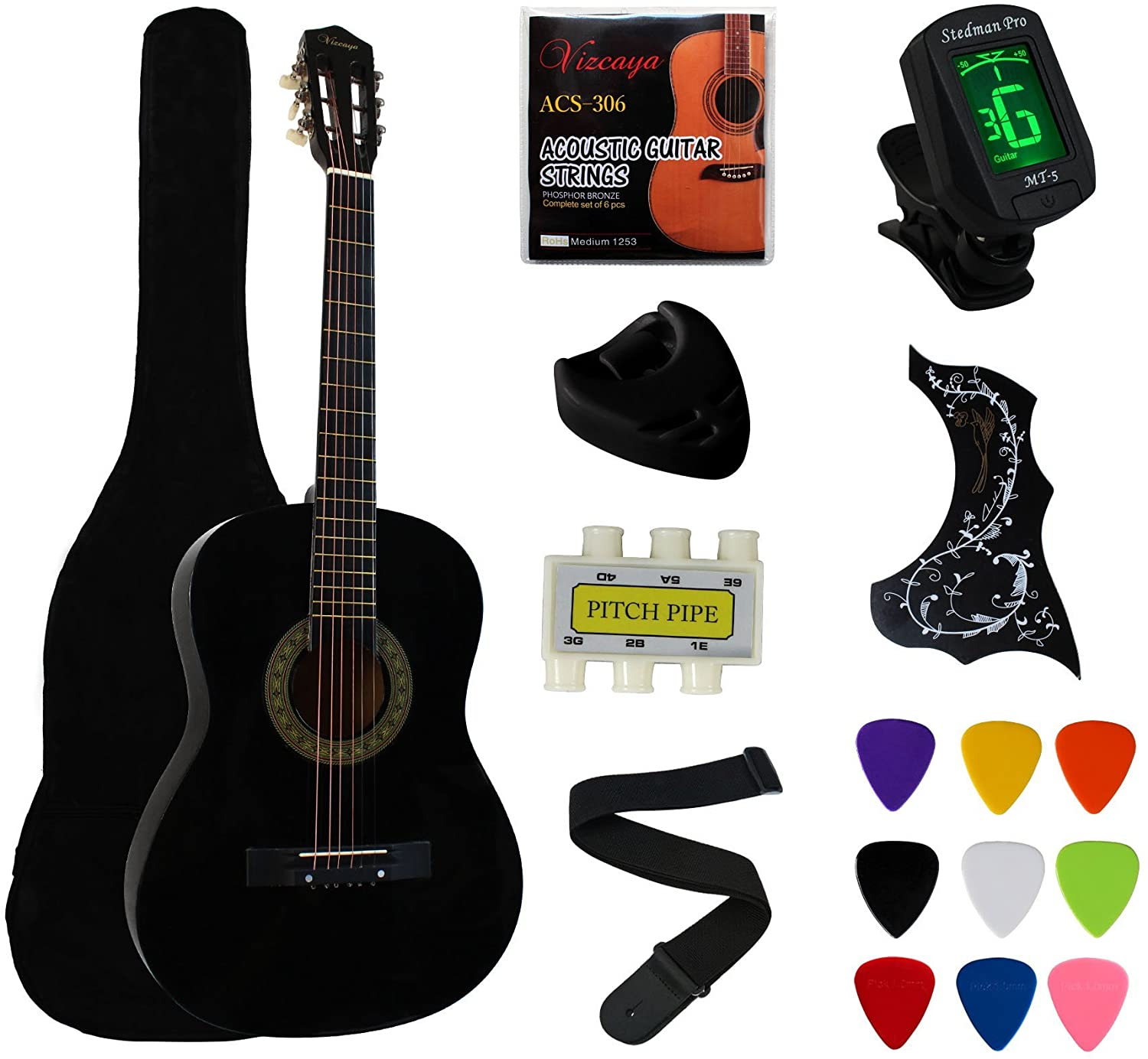 YMC 38-Inch Beginner Acoustic Guitar Starter Package
