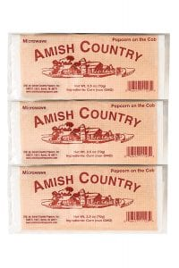 Amish Country Popcorn Red Old Fashioned Microwave Popcorn, 3-Pack