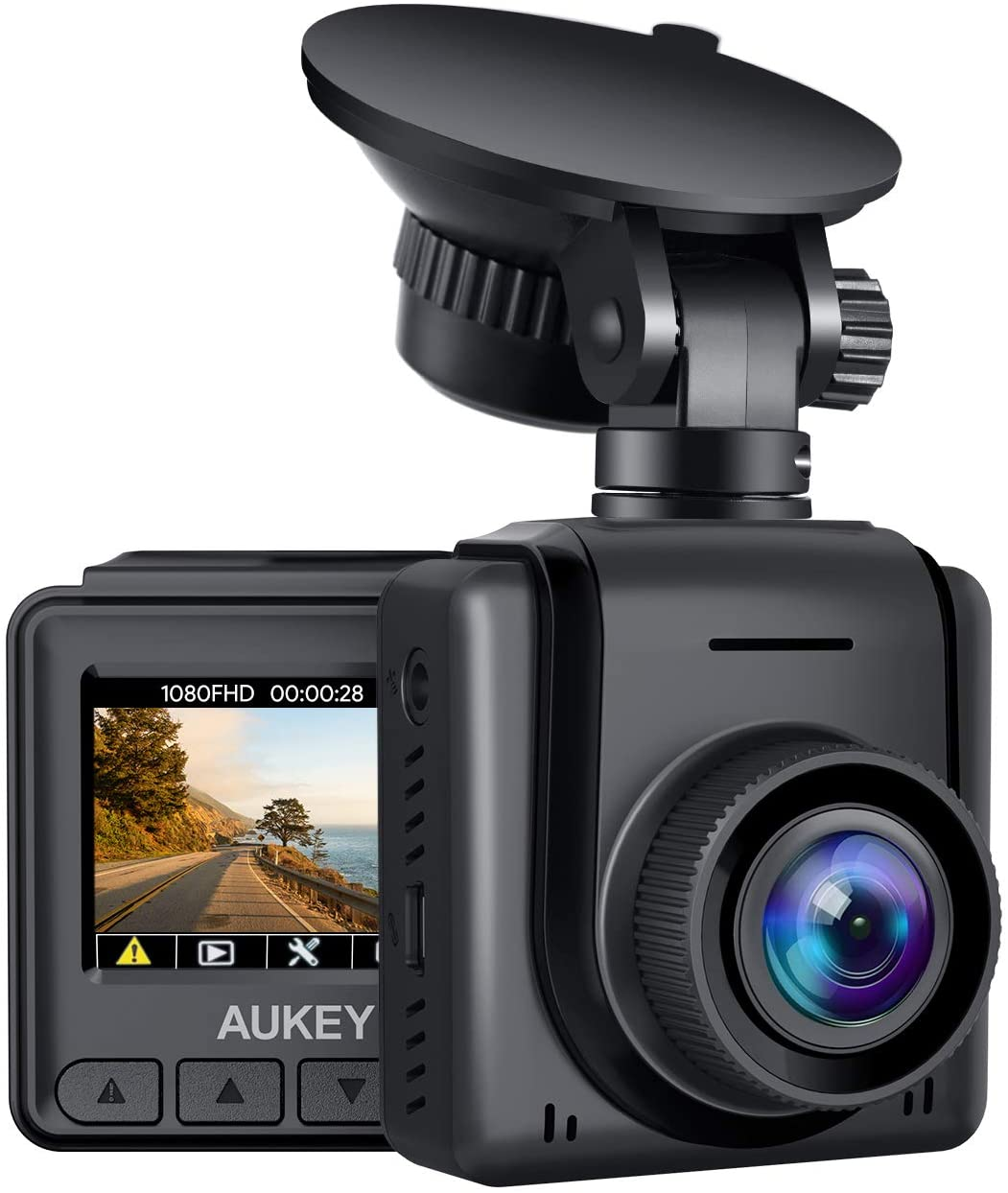 AUKEY 170-Degree Wide-Angle Lens Car Camera