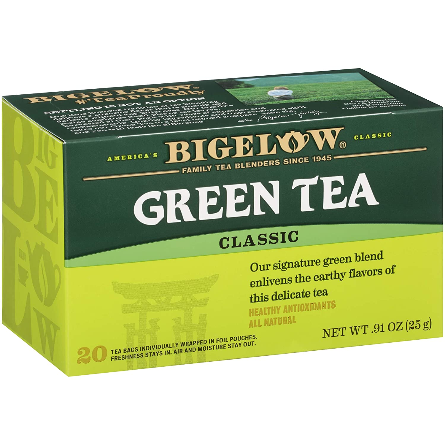 Bigelow Tea Caffeinated Green Tea Bags