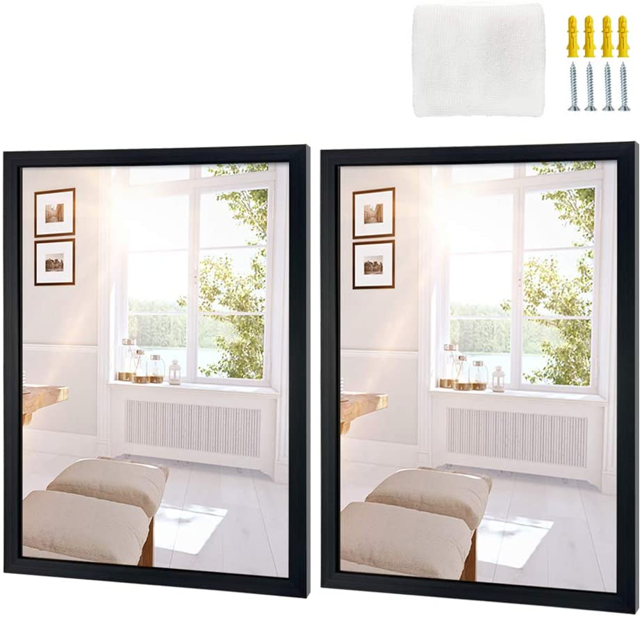 Edenseelake Rectangular Wall Mirror, 2-Pack, 16×20-Inch