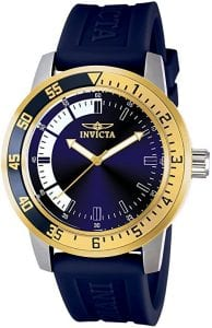 Invicta Men's Specialty Stainless Steel Watch, Blue & Gold