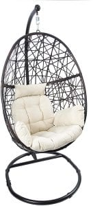 Luckyberry Rattan Wicker Patio Egg Chair