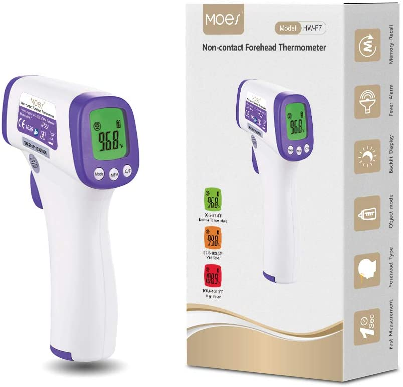 Moes LCD Display Digital Forehead Thermometer