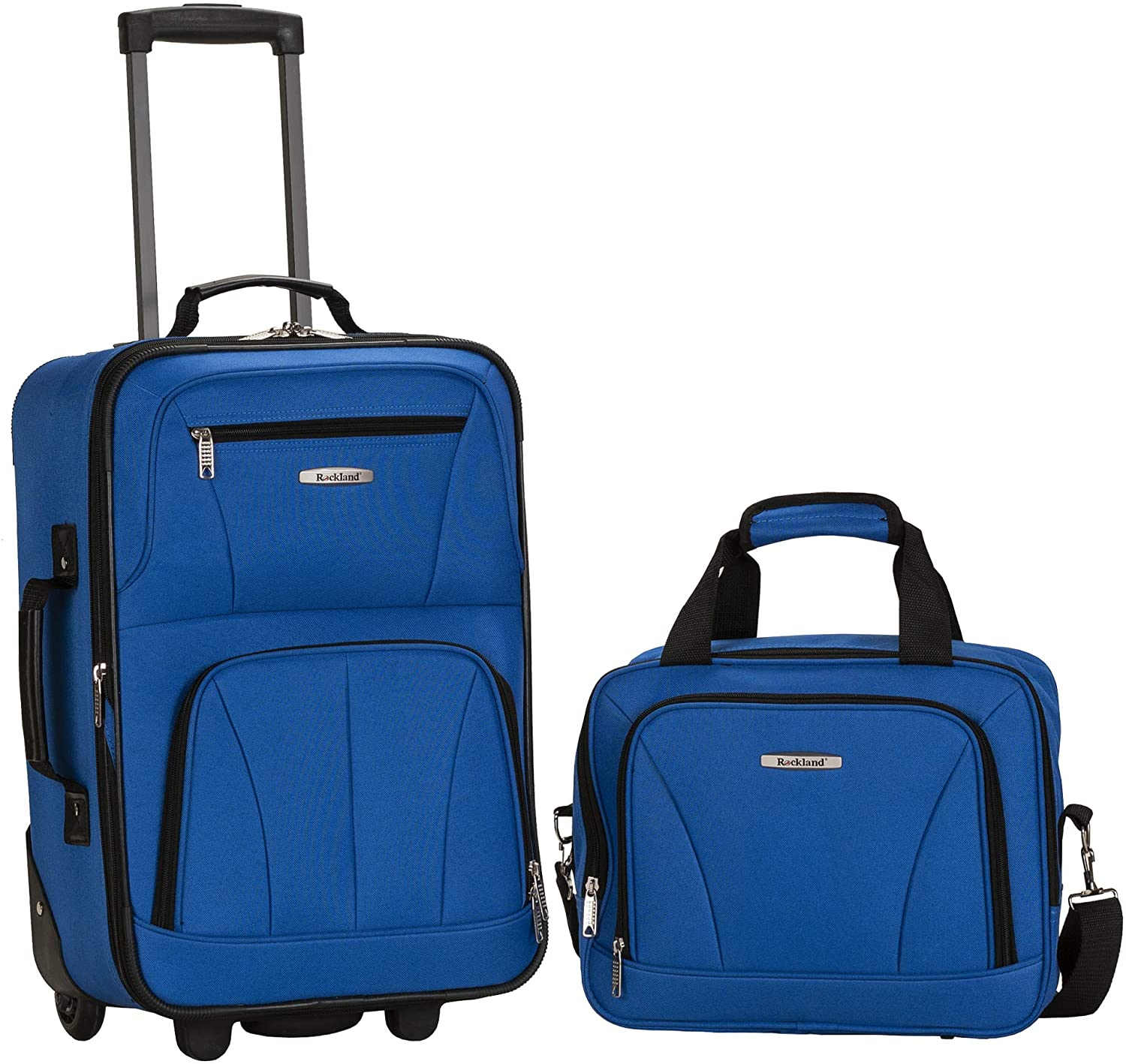 Rockland Softside Upright Traveler Suitcase, 2-Piece
