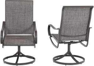 Sophia & William Patio Swivel & Rocker Dining Chair Set