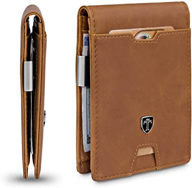 TRAVANDO Austin Bifold RFID Slim Minimalist Wallet & Money Clip