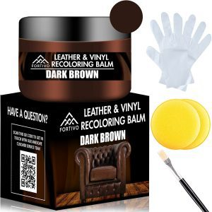 FORTIVO Brown Vinyl & Leather Couch Repair Balm