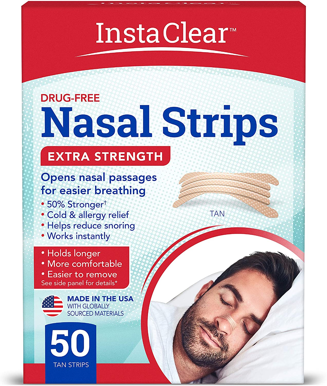 Instaclear Extra-Strength Nasal Strip, 50-Count
