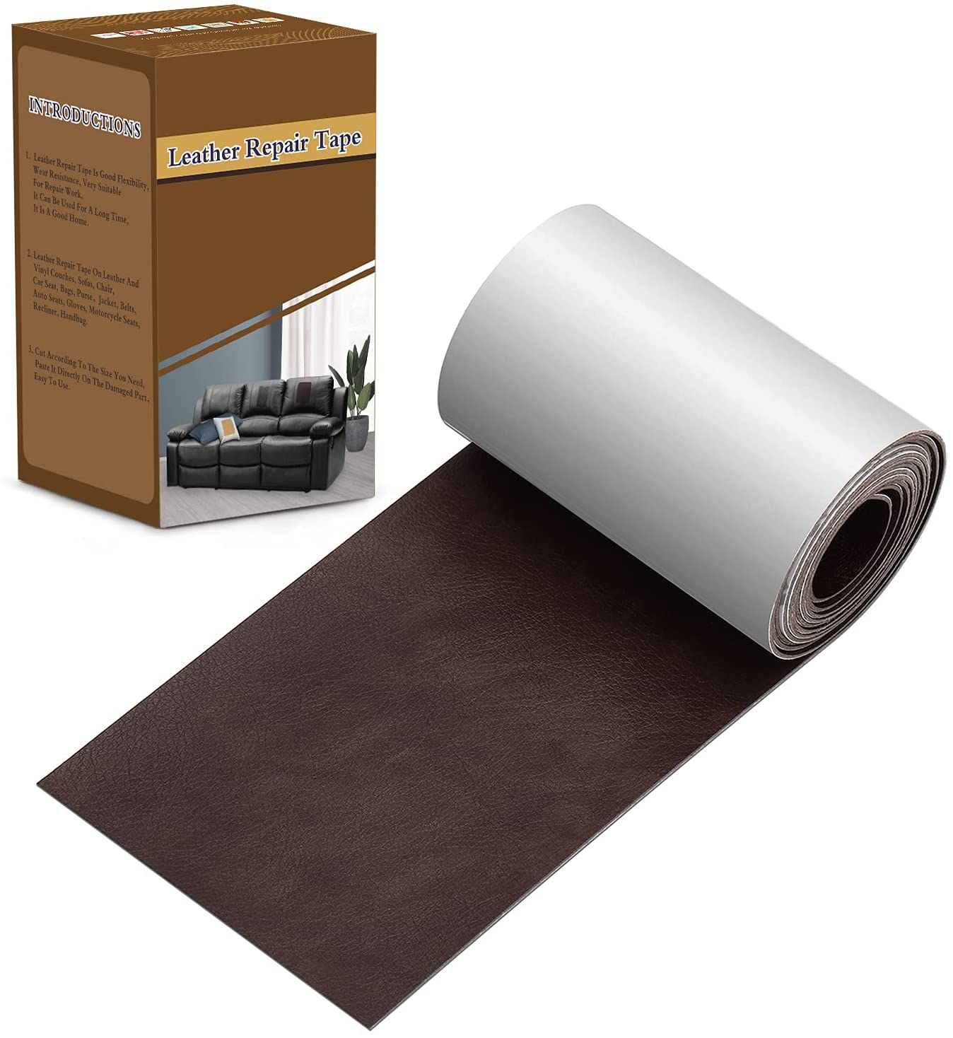 ONine Self-Adhesive Leather Couch Repair Tape