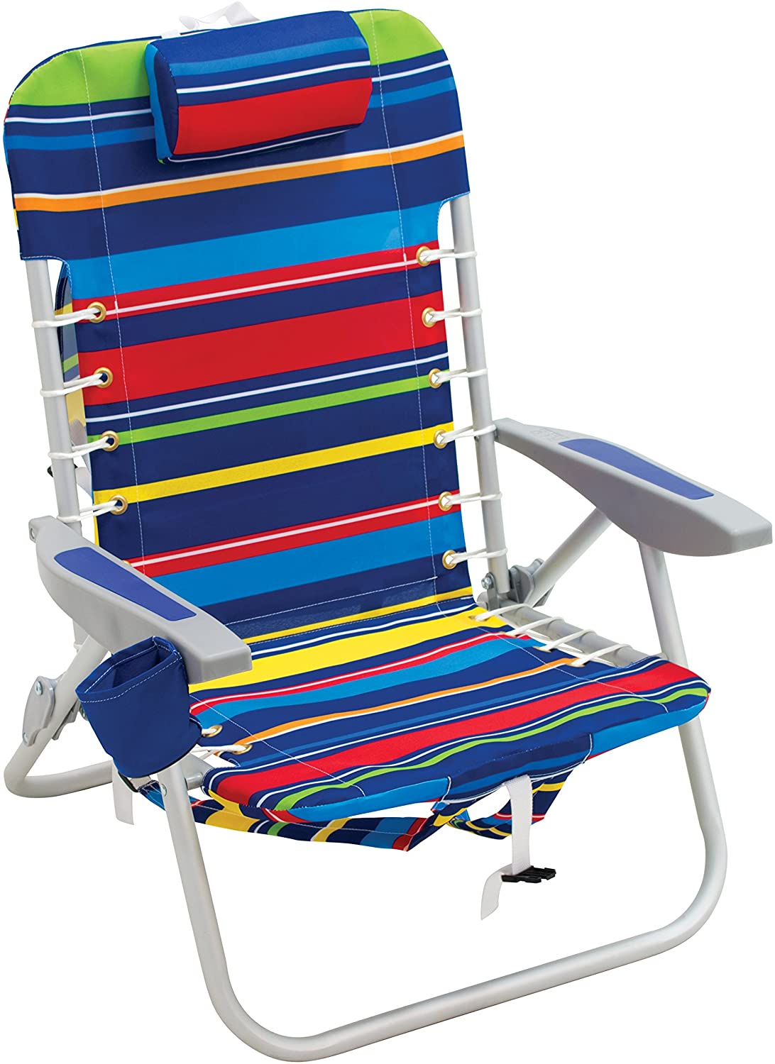 RIO Beach 4-Position Lace-Up Foldable Beach Chair