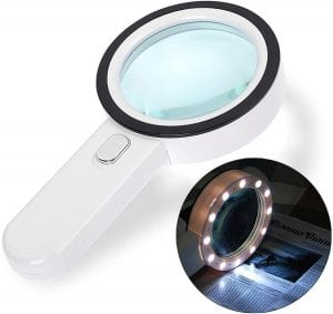 GEMWON LED Magnifying Glass With Light