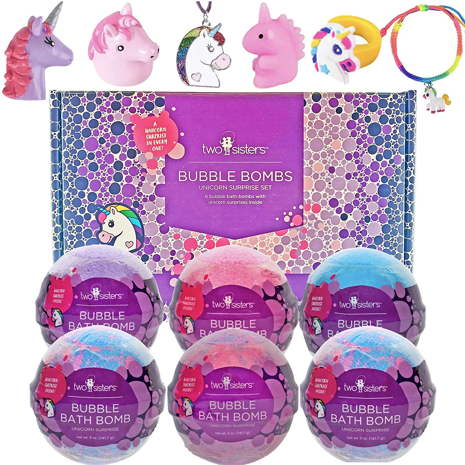 Two Sisters Spa Unicorn Bath Bombs For Girls