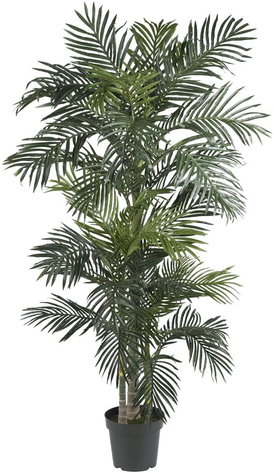 Nearly Natural 6.5-Foot Golden Cane Palm Silk Tree