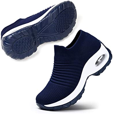STQ Mesh Slip On Women's Walking Shoe