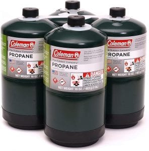 Coleman 16-Ounce Propane Fuel Cylinders, 4-Pack