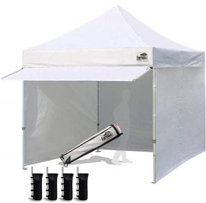 Eurmax Pop-Up Canopy Tent With Zippered Sidewalls
