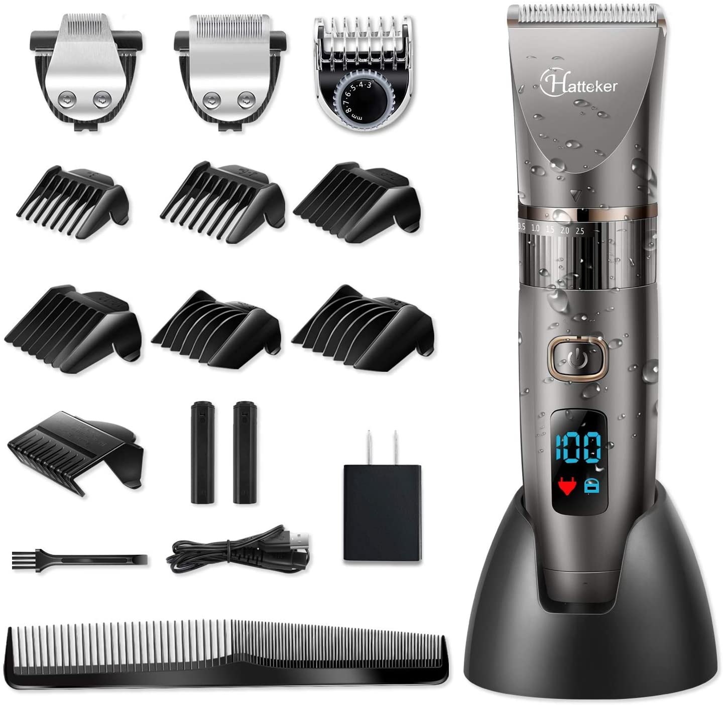 Hatteker Men's 3-In-1 Beard Trimmer