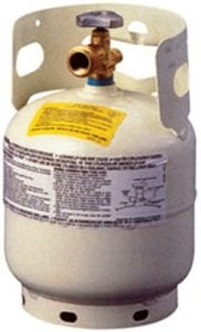 Manchester Tank & Equipment Built-In Handle Small Propane Tank, 5-Pound