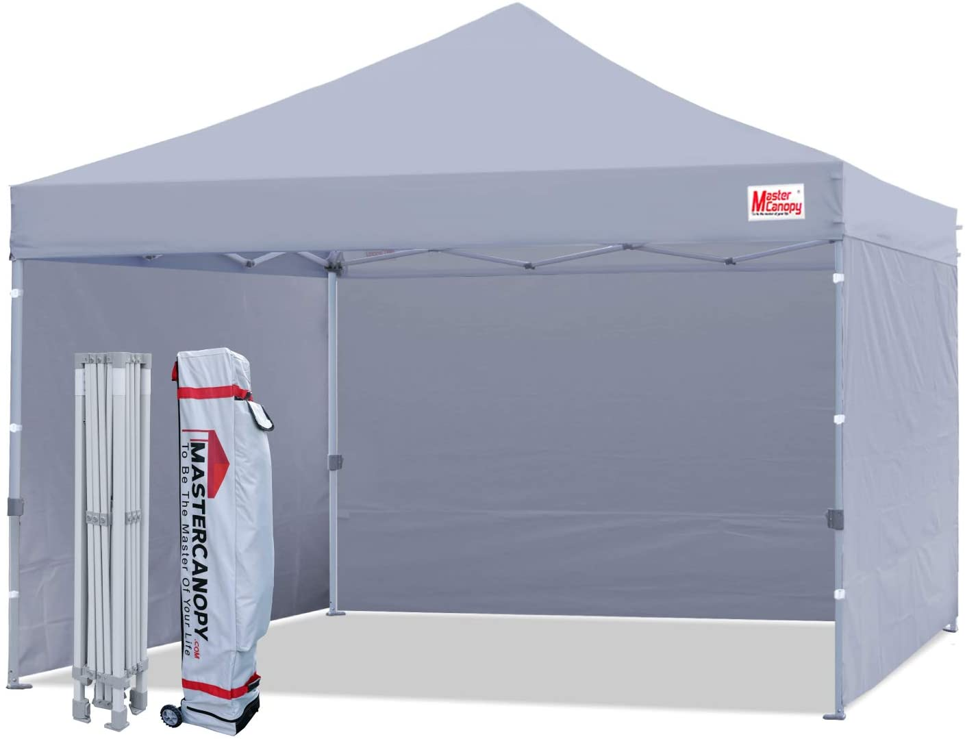 MASTERCANOPY Ez Pop-up Canopy Tent With Removable Sidewalls